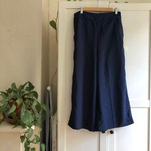 Madewell Huston Pull-On Crop Pants (Deep Navy) – L